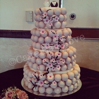 Cherry Blossom Cake Ball Cake four tiered cherry blossom cake ball cake