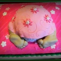 Baby Butt Cake! This is a baby shower cake for my husband's cousin. It was a HUGE hit. What is cuter than a baby butt!!!