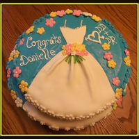 Bridal Shower Cake This bridal shower cake is the first one I have ever made. It really turned out cute, especially with the dress running down the second...