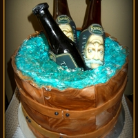 Beer Bucket Cake This is a beer bucket cake that I made for a friend of mine. She and her fiance like to drink locally brewed beer. This is one of the...