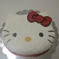 Hello Kitty Almond Puerto Rican Moist Cake with Creme De Bouqute buttercream frosting