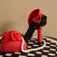 Red Rose High Heel Chocolate Cake