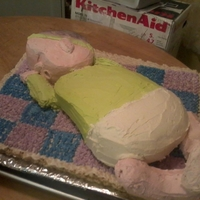 Baby Cake My first time making a 3-D Baby cake.