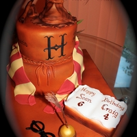 Harry Potter Cake Sponge cake With Strawberry Jam & B'cream filling for base.Chocolate Cake With B'Cream filling