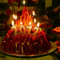 Bonfire New Year's Day Cake