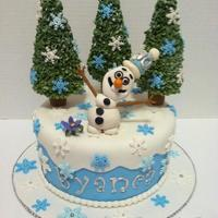 Olaf Cake   This is my first Frozen cake I have made and I had so much fun with this one!