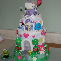 Hello Kitty Princess Castle Cake