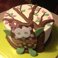 Owl Smash Cake With Cake Pops