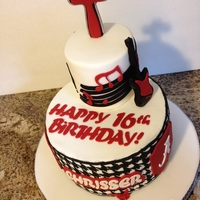 Roll Tide Rock 16Th Birthday Cake