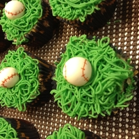 1St Birthday Baseball Cupcakes With Smash Cake