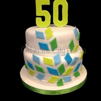 50Th Birthday Cake Chocolate cake with caramel buttercream frosting and toffee bits