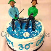 Ice Fishing 30Th Birthday Cake Fun birthday cake for a guy that loves to ice fish