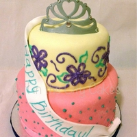 Pageant Birthday Cake Alternation layers of strawberry and chocolate cake with vanilla bean buttercream and fondant frosting