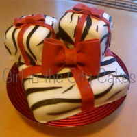 Holiday Zebra Cake