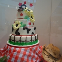 Western Cake A model tiered cake made for our store retail display box during the Calgary Stampede while William & Kate were in town.