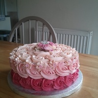 Pink Embre Cake With Matching Sponge Inside pink embre cake, with matching sponge inside!