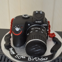 Dslr Camera This was a DSLR camera cake for my husbands 50th birthday. He received the actual Nikon D3200 for his birthday, so did him a replica cake!...