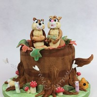 Chip & Dale Chip & Dale birthday cake