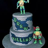 Ninja Turtles Teenage Mutant Ninja Turtle cake made for a brother and sister sharing their birthday together. I always make the happy kiddie version of...