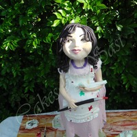 A Chubby Little Artist Doll..... And Ohhhh So Messy !!!! My niece told me what she wanted beginning of last year….. An ART based cake. I thought of a design then a month after I found...