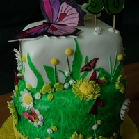 Butterfly/meadow Cake