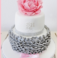 Pink & Silver This cake was a 15th wedding aniversary =)