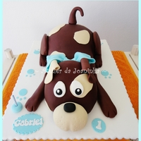 Sculped Dog Cake Sculped Dog Cake