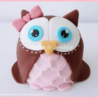 Handmade Figures   Sweet little owl handmade with gumpaste