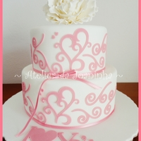 Pink Wedding Cricut Cake