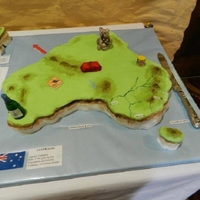 Australia Map Cake Geographically correct map of Australia cake. Made for my wife's Australian relatives