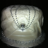 Sample Cake This cake was for taste test, designed after the brides dress! tfl
