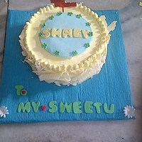Orange Cake With Orange Curd Filling N Whitechocolate Buttercream Had started with a completly different design, but had to change midway due to terrible heat n almost 70% humidity due which all my fondant...