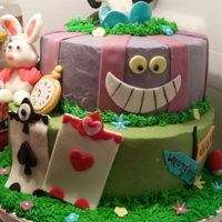 Alice In Wonderland Birthday Cake   Alice in Wonderland birthday cake