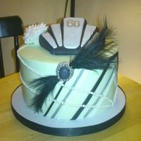 Art Deco Inspired Cake For A 60Th Art deco inspired cake for a 60th