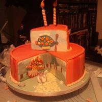 In The Night Garden/upsy Daisy Cake   Birthday cake for 2yr olds party, this was an all nighter so sorry for the pic quality, was taken at 6am!