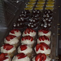 3 Kinds Cupcakes For A Party For More Than One Person, Made 2 Dozen Of Each Kind.