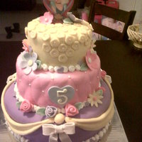 Princess Birthday Cake 3 Tier cake covered in fondant, decorations are fondant and gumpaste