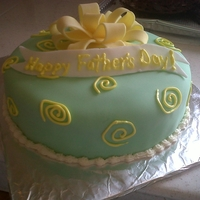 Happy Fathers Day Marble cake with pudding filing, covered with fondant