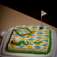 Golfer's Birthday Cake