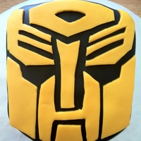 "Transformers Personal Cake 6"" inch smash cake for my nephews 6th birthday party. He loves Auto bots"
