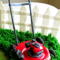Father's Day Lawn Mower Cake.