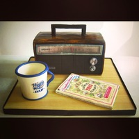 Vintage Radio Father's Day Cake Cake for Father's Day inspired by memories of mornings spent with my Dad listening to his favourite country radio station. Vanilla &...