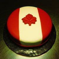 Simply Canadian Cake Dark chocolate cake with maple buttercream frosting. Happy Canada Day to my fellow Canucks!