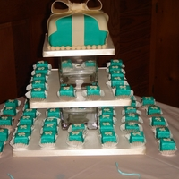 Aqua Petit Four Tower