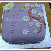 Birthday Cake For A Friend   My first attempt using gum paste and fondant flowers.