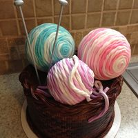 "The Yarn Is Made Out Of Fondant The ""yarn"" is made out of fondant"