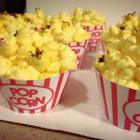 Popcorn Cupcakes Vanilla cupcake with buttercream frosting.