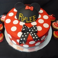 Minnie Mouse Style Cake Buttercream and fondant