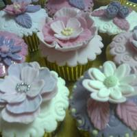 Pink Purple And White Cupcakes *