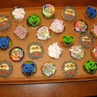 Grateful Dead Tie Dye Cupcake Grateful Dead Tie-dye cupcakes for my Friend's 50th birthday. Cupcakes are rainbow tie-dye with buttercream frosting. Jerry Garcia...